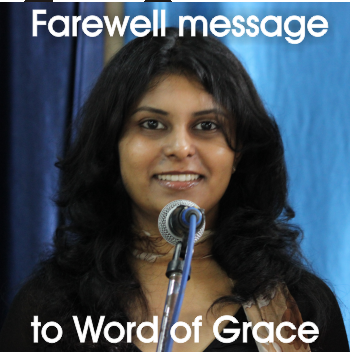 Joyce Pillai's farewell message to Word of Grace – Word of Grace Church, Pune