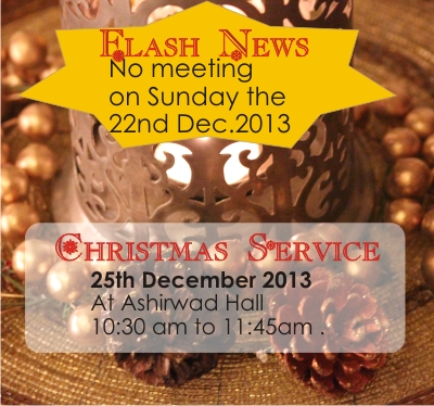 Flash News | No meeting on the 22nd of Dec – Word of Grace Church, Pune