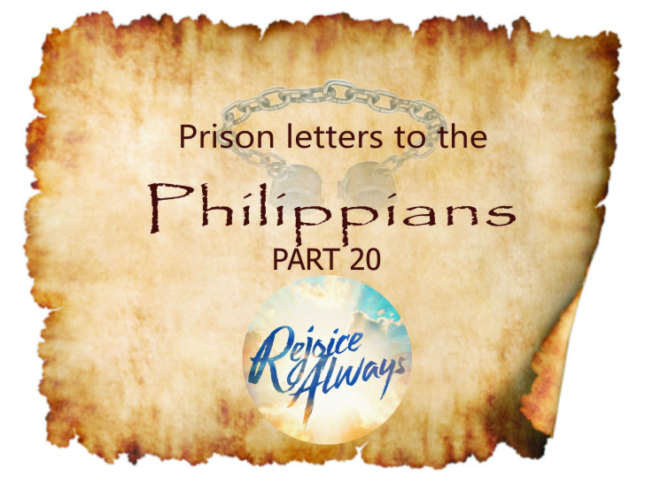 Philippians Part 20: Rejoice Always| Colin D – Word of Grace Church, Pune