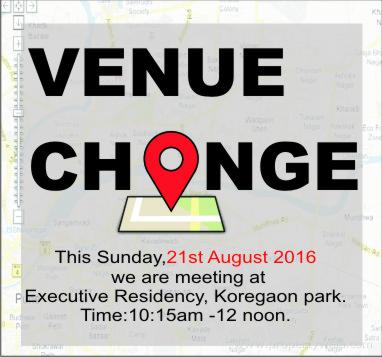 VENUE CHANGE – Word of Grace Church, Pune