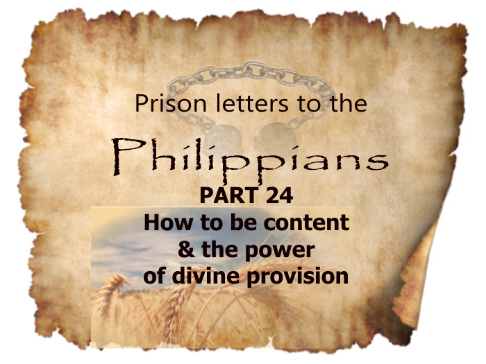 Philippians: Part 24- How to be content and the power of Divine provision | Colin D – Word of Grace Church, Pune