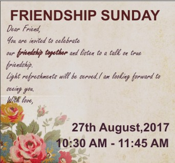 Friendship Sunday – Word of Grace Church, Pune