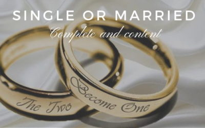 Single or Married – Complete and Content. | David Fernandes