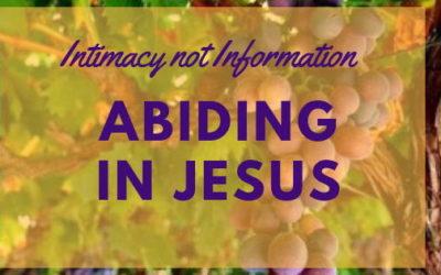 Intimacy not information – Abiding in Jesus| Navaz DCruz