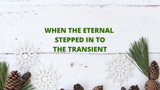 When the Eternal stepped into the transient| Abhishek B